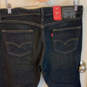 Men's Levi's 511 slim jeans, 34x30 dark wash